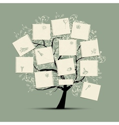 Wish tree for your design vector image