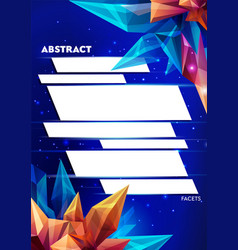 image of a faceted crystal template for design vector image