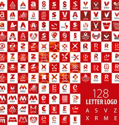 large set of logo letters vector image