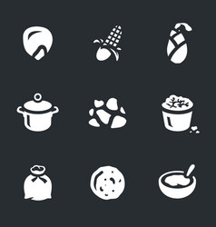 set of corn icons vector image vector image