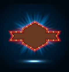 shining blue spotlight billboard sign vector image