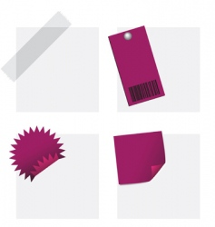 tags and notes vector image