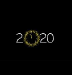 2020 silver text vector image