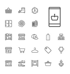 22 store icons vector