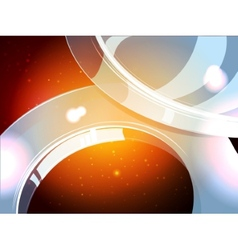 3D cosmos stars abstraction with yellow sparks vector image