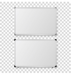3d realistic blank magnetic whiteboard vector image