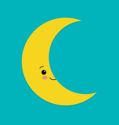 a happy moon with a friendly smile on his face vector image