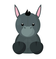 abstract cute animal vector image