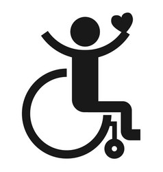 Adult wheelchair icon simple style vector