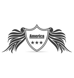 american labels styles vector image