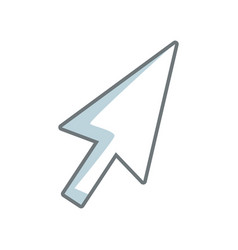 arrow direction cursor selection technology icon vector image