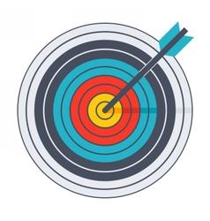 Arrow in archery target vector