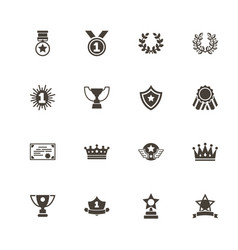 awards - flat icons vector image