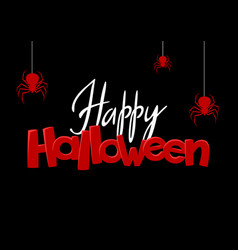 background with black widow spiders vector image