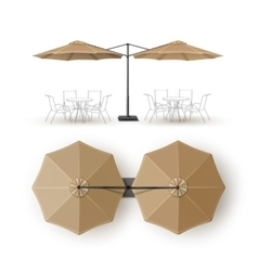 Beige Blank Patio Outdoor Umbrella for Branding vector