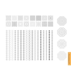 Big Set of minimal geometric monochrome shapes vector
