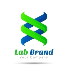 Bio technology biology design DNA logo template vector