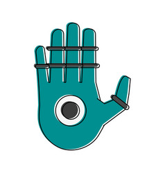 Bionic hand artificial intelligence related icon vector