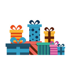 birthday gifts boxes surprise decoration vector image