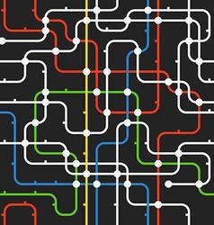 Black abstract city transport scheme vector image