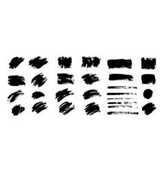 black paint ink brush stroke brush vector image