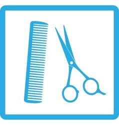 blue sign of barbershop vector image