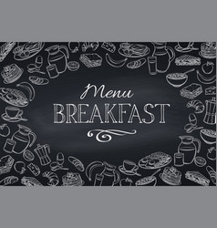 breakfast and brunch frame vector image