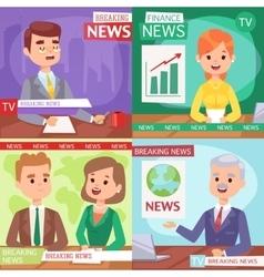 Breaking news anchor vector