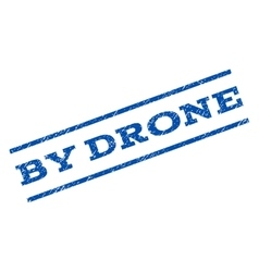 By drone watermark stamp vector
