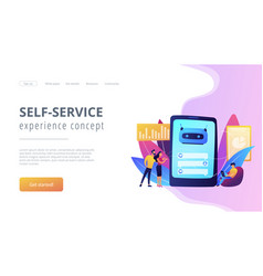 Chatbot customer serviceconcept landing page vector