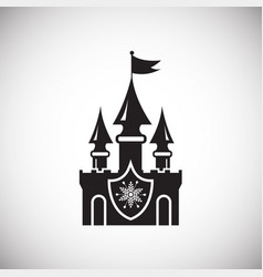 christmas castle on white background vector image
