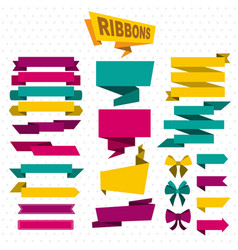 Colorful design elements flat set vector