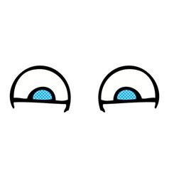 comic cartoon eyes vector image