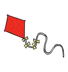Comic cartoon kite vector