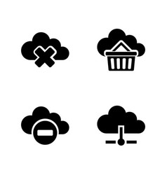 Computing cloud simple related icons vector