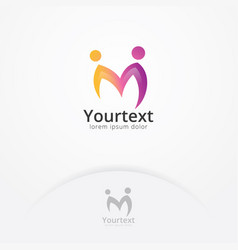 creative people - letter m logo vector image