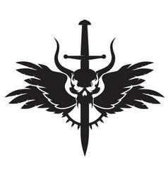 dark emblem vector image