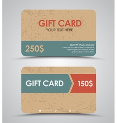 Design gift cards vector image
