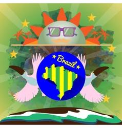Digital blue sun with sunglasses vector