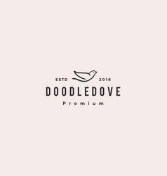 doodle dove logo icon vector image