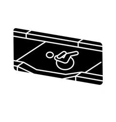 Dropped kerb black glyph icon vector