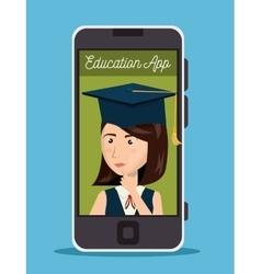 education app design vector image