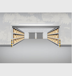 empty warehouse building vector image