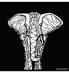 ethnic elephantfor cards designhand drawn vector image