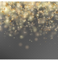Falling gold glitter particles EPS 10 vector image