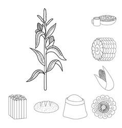 farm and crop symbol set vector image