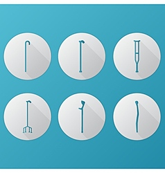Flat icons for orthopedic equipment vector image