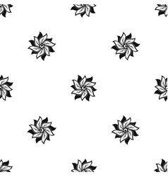 flower pattern seamless black vector image