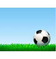 Football Ball Composition vector image