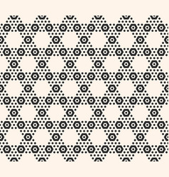 geometric hexagon seamless pattern black vector image